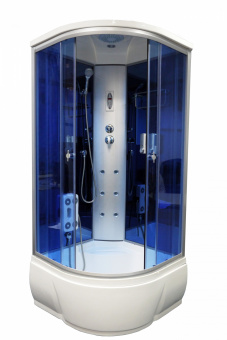 AQUAPULSE 3302А 90*90*220 гл.п. blue mirror #WF_CITY_VIN# картинка